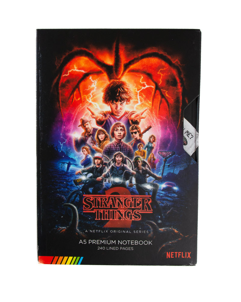 Official Stranger Things Season 2 VHS A5 Premium Notebook / Journal