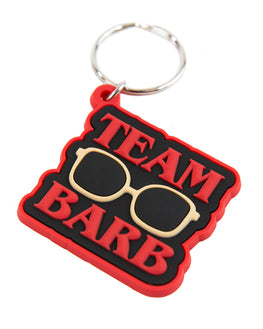 Official Stranger things Team Barb Rubber Keychain