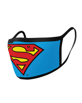 Official DC Comics Superman Logo Face Masks (2 Pack)