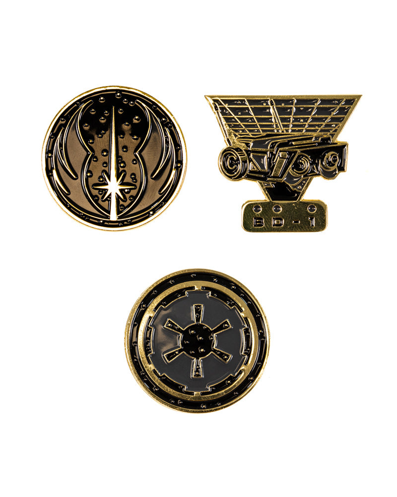 Official Star Wars Fallen Order Pin Badge Set