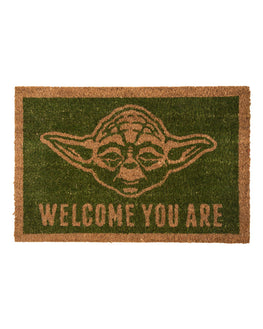Official Star Wars 'Welcome You Are' Yoda Door Mat