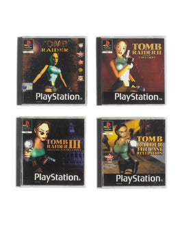 Official Tomb Raider PlayStation 1 Retro Coasters - 4 Pack