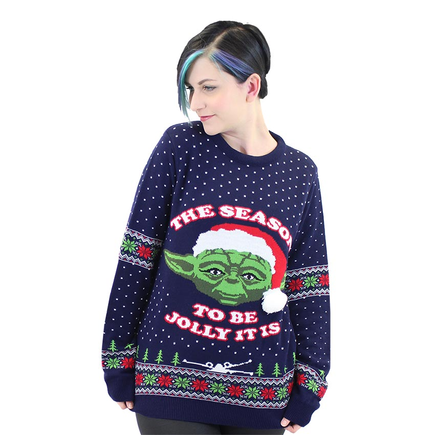 Official Star Wars Master Yoda Christmas Jumper / Ugly Sweater