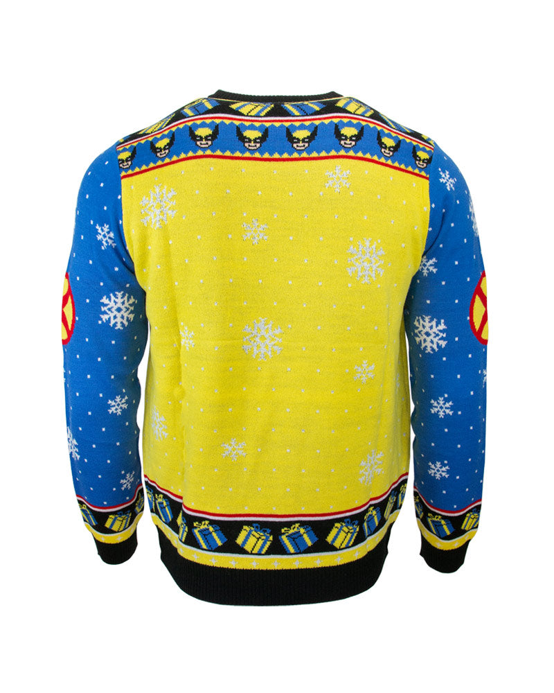 Official Marvel Wolverine Xmas Tree Lights Ugly Christmas Sweater