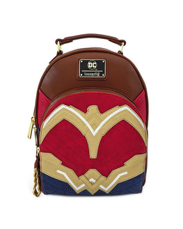 Loungefly DC Comics Wonder Woman Faux Leather Mini Backpack
