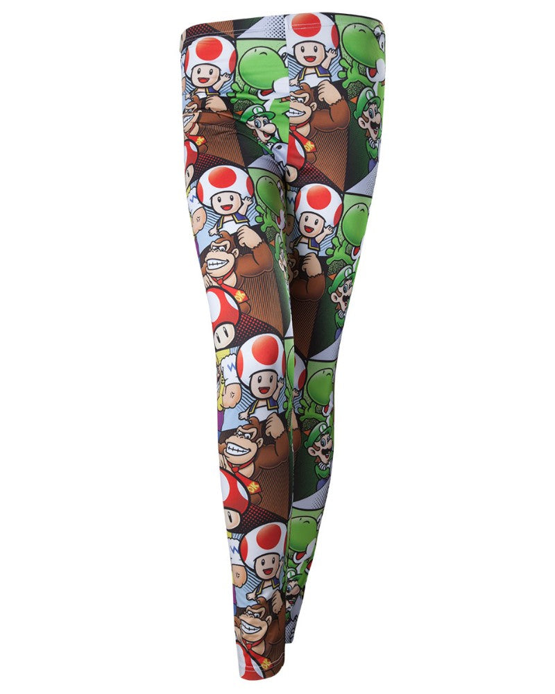 Official Super Mario All Over Print Character Leggings
