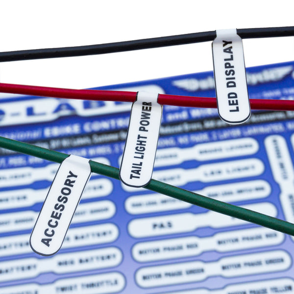E-Label Ebike DIY Labels for Controller & Wiring Labels Fit Ebike Conversion Kit