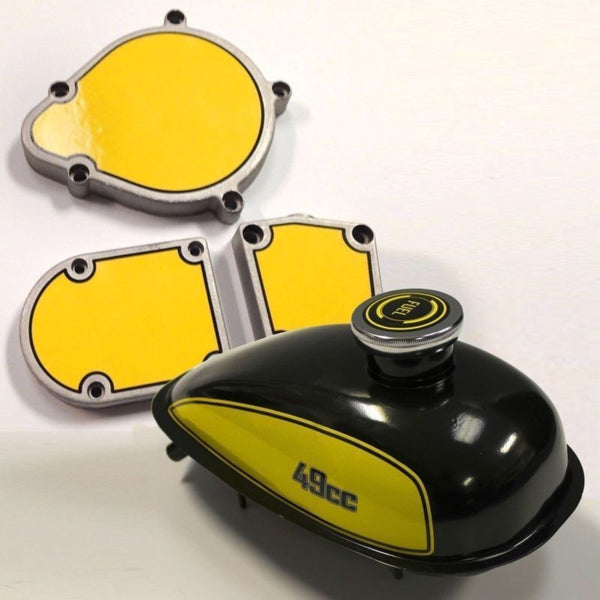 2 Stroke Motorized Bicycle Tank & Engine Decal Mega Kit SAVE 15%