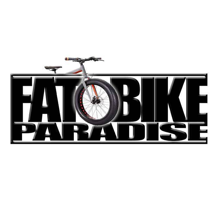 2D Fat Bike Paradise Bumper Sticker Decal Graphic