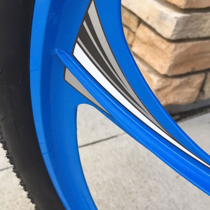 Motorized Bicycle Hurricane Wheel Decal Kit