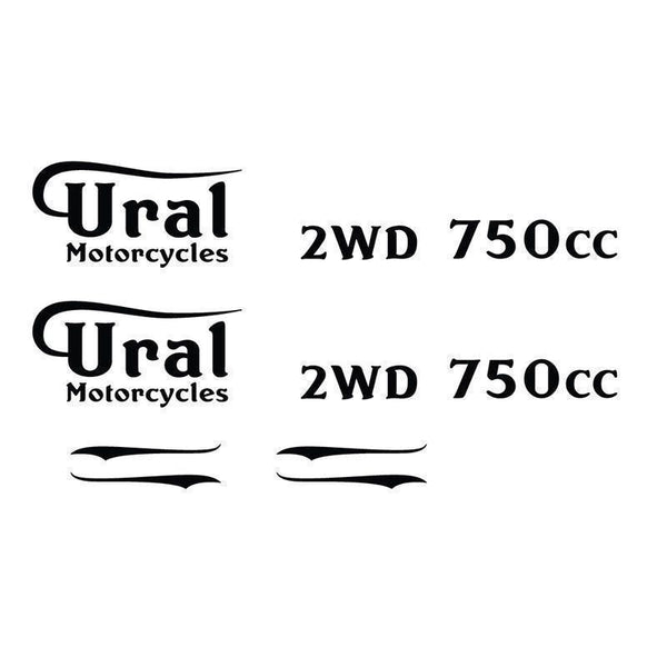 Ural Vintage Style Motorcycle Gas Tank & Body Decals