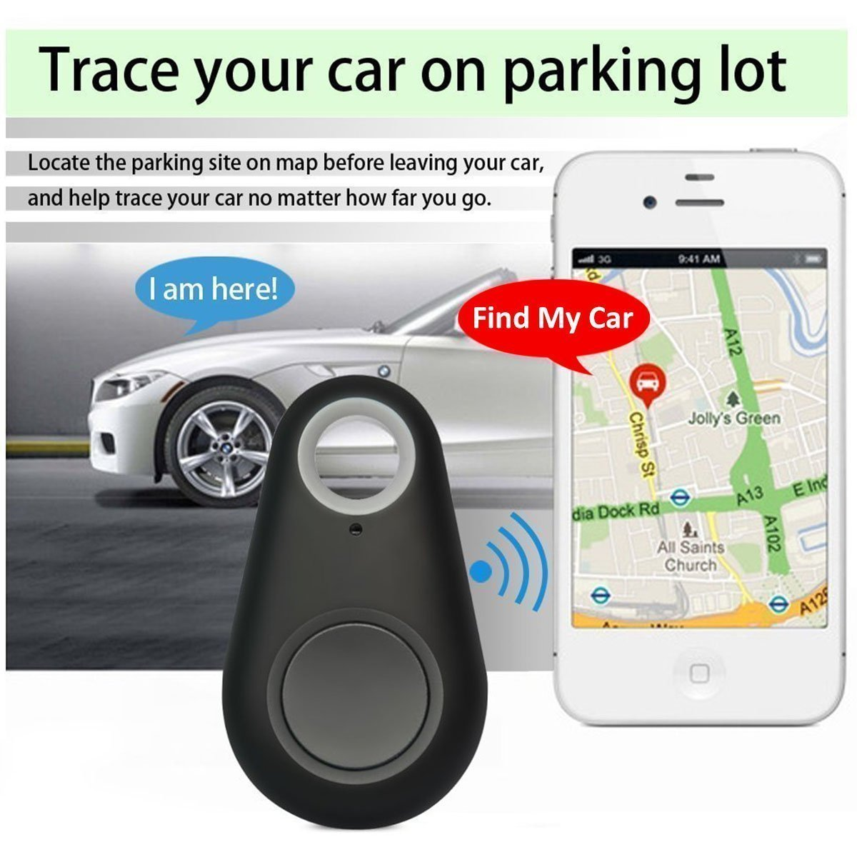 (ONLY 11.95, 2 PACK!)NEW! Smart GPS Bluetooth tracker Locator