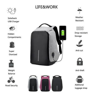 Smart Backpack-Waterproof, Anti-theft, USB Charging