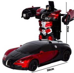 (Free Shipping And 30%OFF Only For 3 Days!)2.4G Induction Deformation RC Cars Transformation Robot Car Toys for Children Gifts