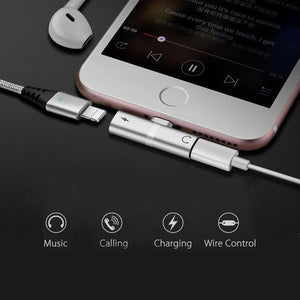 2 in 1 Lightning Adapter for iPhone (Buy one get one free)
