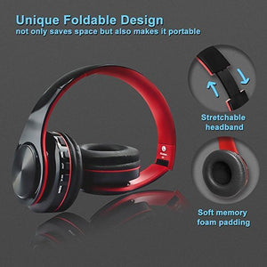 Wireless Bluetooth Headphones Noise Cancelling Over-Ear Headset with Mic