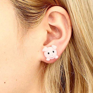 Cute Animal Polymer Clay Earring Handmade Cartoon Stud earring