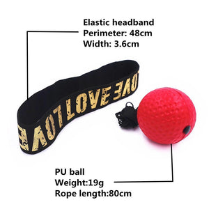 Hand Eye Training Set Head-Mounted Boxing Reflex Ball Raising Reaction Force