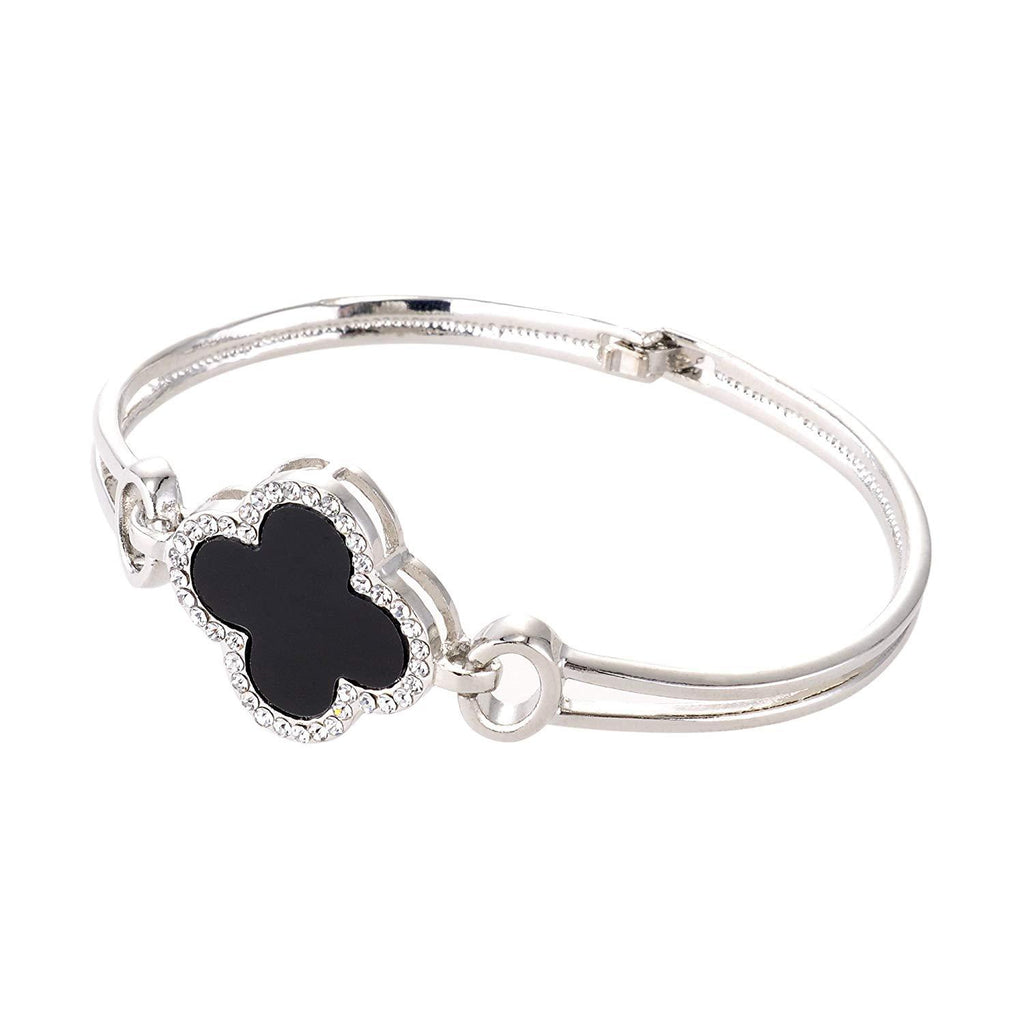 Alloy Four Leaf Clover Style Bangle Bracelet