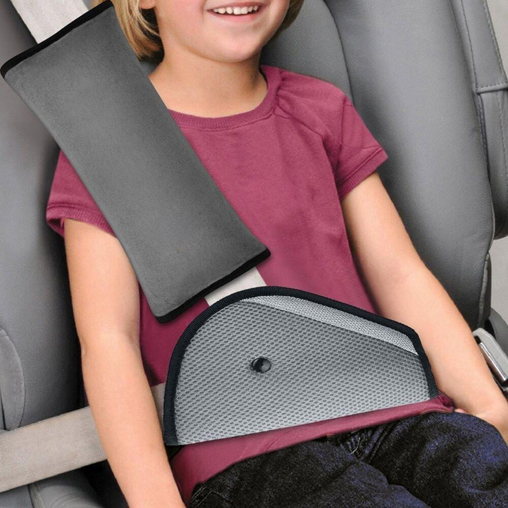 Car Safety Kids Seatbelt Adjuster Cover Strap Mash Shoulder Pad Children Seat Belt Clips