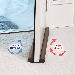 Twin Draft Guard Extreme in Brown - Energy Saving Under Door Draft Stopper