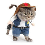 West Cow Boy Uniform with Hat,Funny Pet Cowboy Outfit Clothing for dog cat