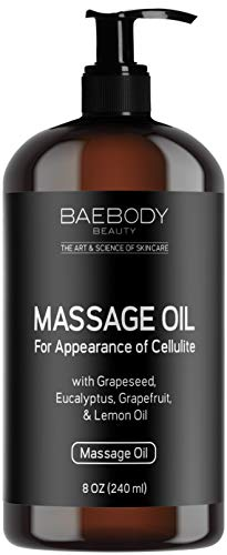 All-Natural Massage Oil - with Grapeseed Oil, Eucalyptus Oil, Lemon Oil, and Grapefruit Oil (8 oz.)