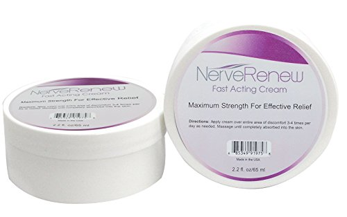 All-Natural, Fast-Acting, Alternative Nerve Pain Treatment Cream - Safe for Rheumatoid Arthritis (2.2 oz.)