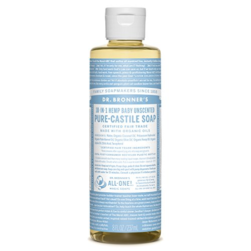Dr. Bronner's Pure-Castile Liquid Soap – Baby Unscented (8 oz.)