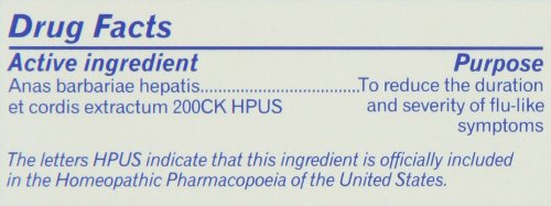 Oscillococcinum - Homeopathic Medicine for Flu-like Symptoms (0.04 Ounce - 6 Doses)
