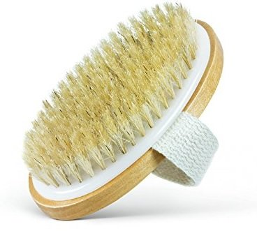 Dry Body Brush - 100% Natural Bristles - Cellulite Treatment, Increase Circulation and Tighten Skin (Pack of 1)