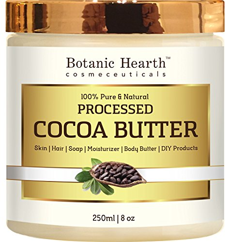100% Pure & Natural Cocoa Butter - Premium Grade A (8 oz.)