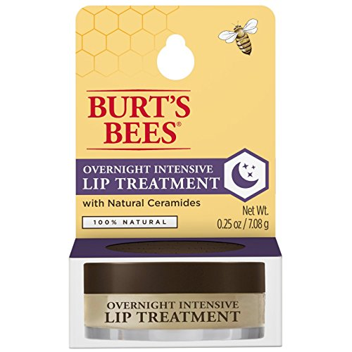 Burt's Bees 100% Natural Overnight Intensive Lip Treatment, Ultra-Conditioning Lip Care (0.25 oz.)