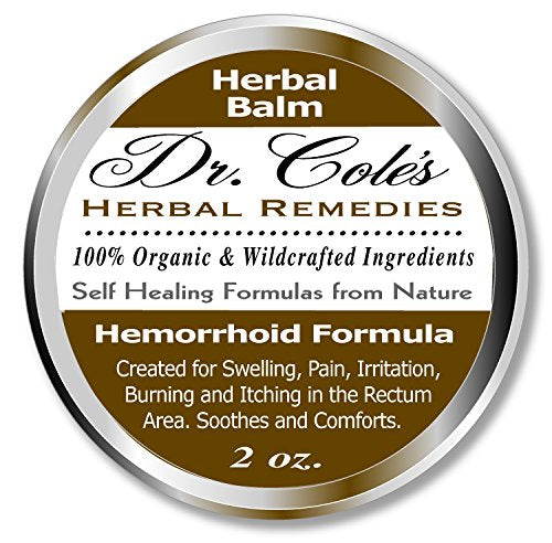 Dr. Cole's Organic Herbal Ointment for Hemorrhoid Relief