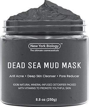 Dead Sea Mud Mask for Face & Body - 100% Natural Spa Quality (8.8 oz.)