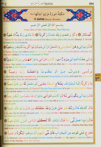 The Holy Qur'an Color Coded English Translation with Arabic Text