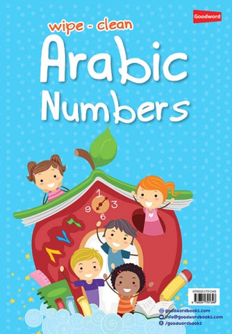 Wipe-clean Arabic Numbers-Arabic Books-Goodword-Crescent Moon Store