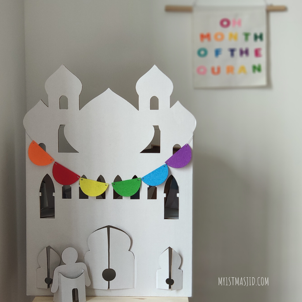 Mini Masjid Story House-Home Decor-My 1st Masjid-Crescent Moon Store
