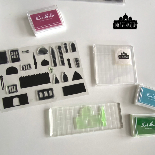 Masjid Architect Stamp Set-Home Decor-My 1st Masjid-Crescent Moon Store