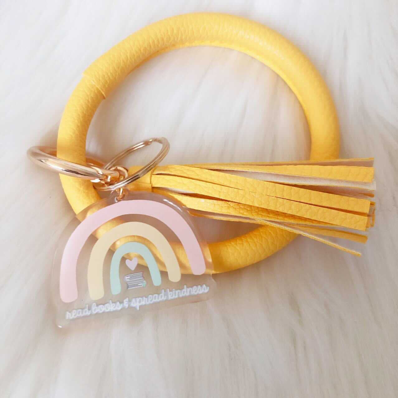 Read Books Yellow Bangle | Keychain-Home Decor-My Secret Copy-Crescent Moon Store