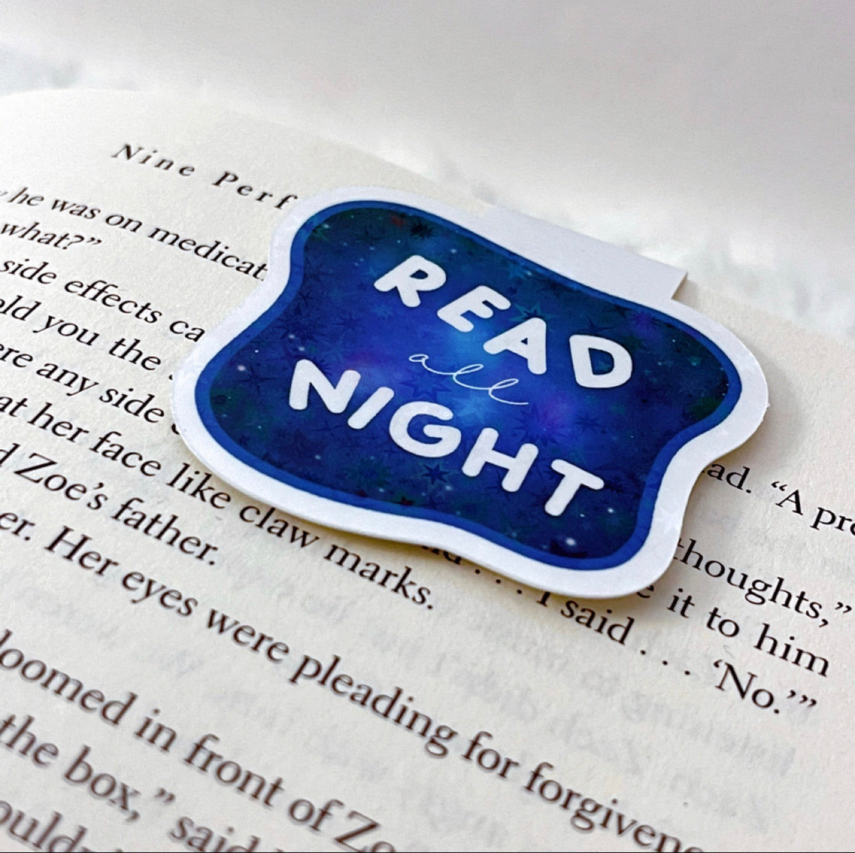 Read All Night Bookmark Magnet