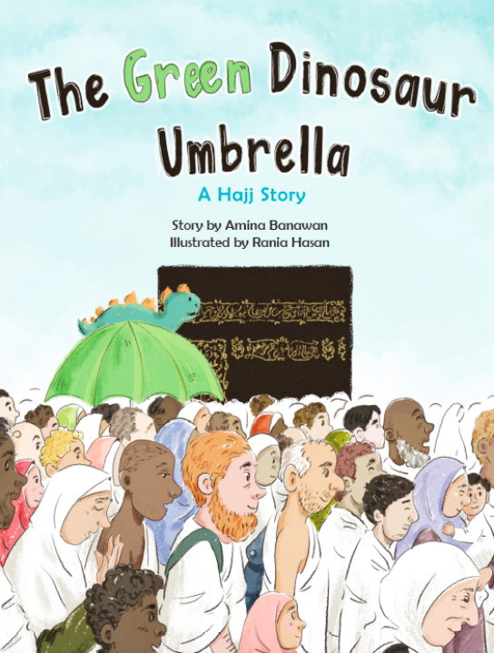 The Green Dinosaur Umbrella-Islamic Books-Ruqaya's Bookshelf-Crescent Moon Store