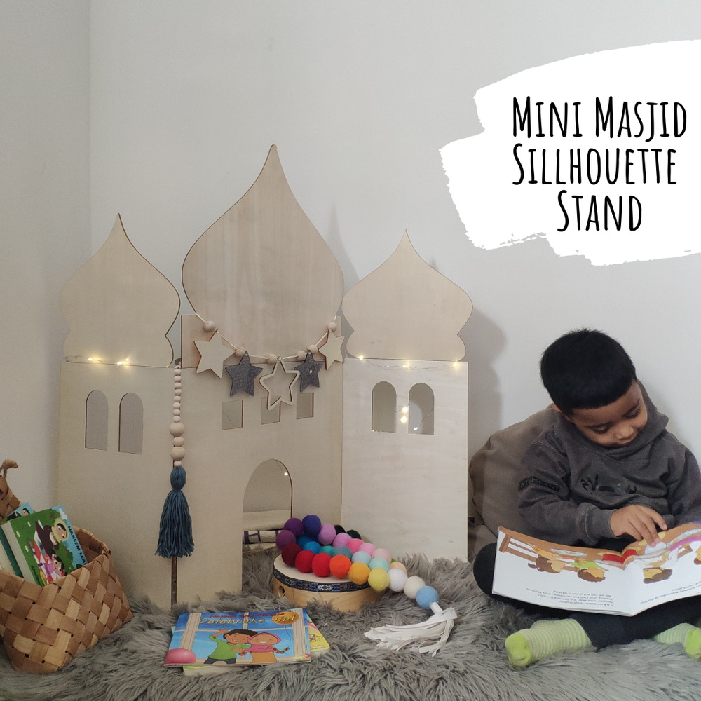 Mini Masjid Silhouette Stand-Home Decor-My 1st Masjid-Crescent Moon Store
