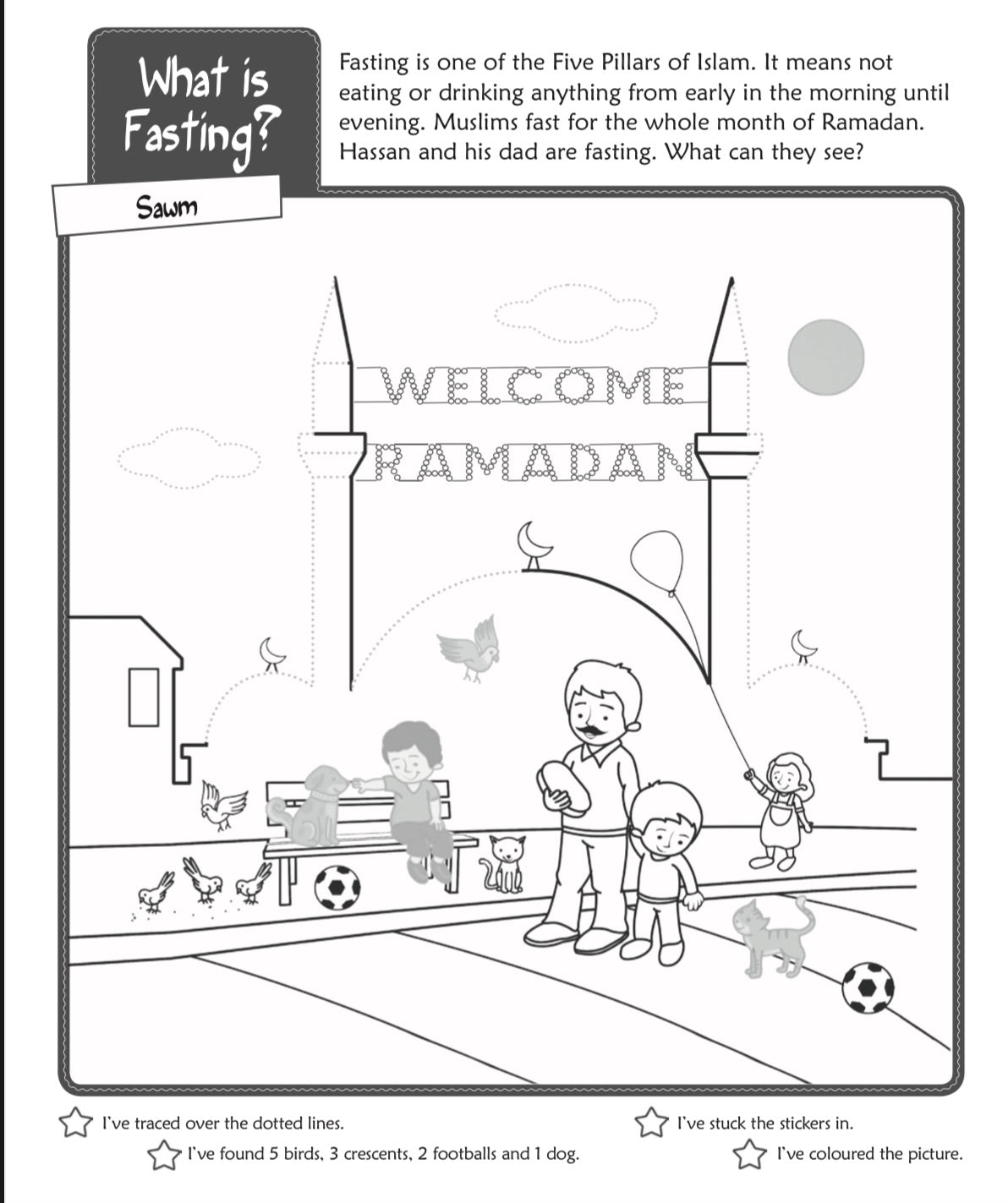 Ramadan and Fasting Activity Book