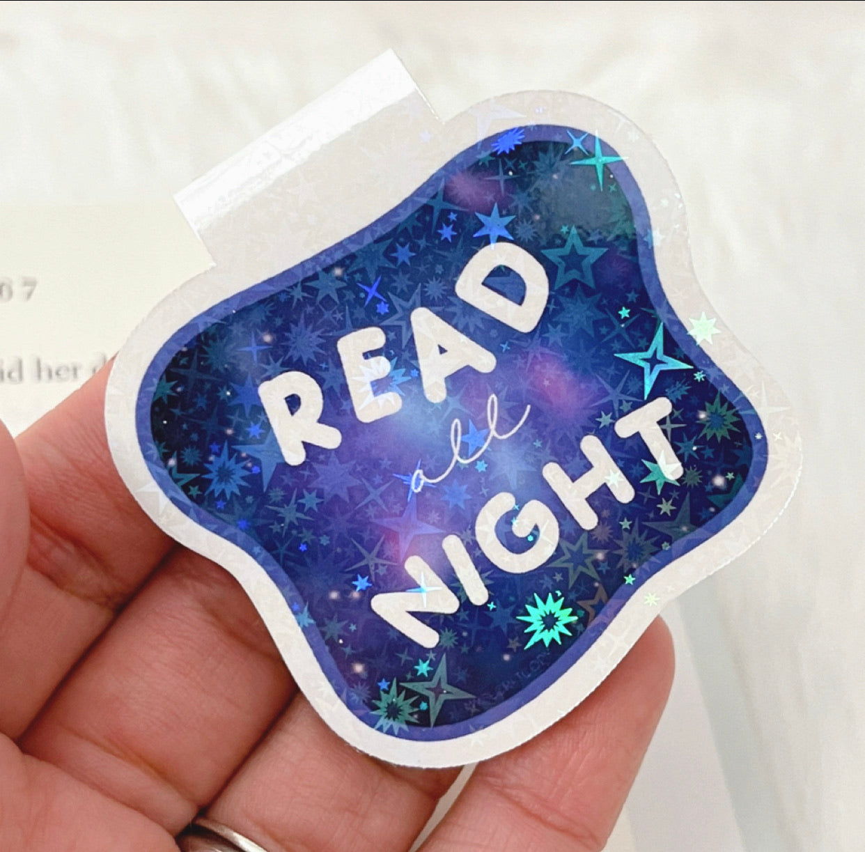 Read All Night Bookmark Magnet-Home Decor-My Secret Copy-Crescent Moon Store