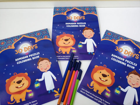 30 Days of Ramadan Coloring Book-Toys & Games-Yalla Kids-Crescent Moon Store