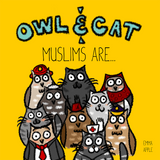 Owl & Cat: Muslims Are…-Islamic Books-Little Moon Books-Crescent Moon Store