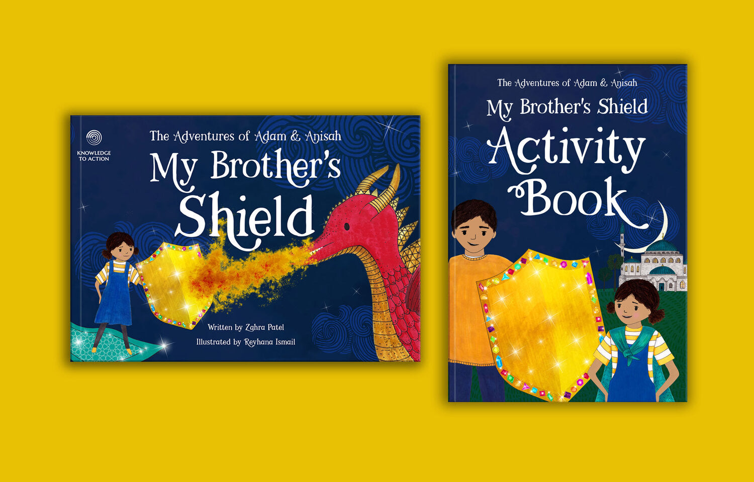 My Brother's Shield-Islamic Books-Ilm2Amal-Hardcover & Activity Book-Crescent Moon Store