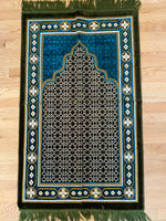 Load image into Gallery viewer, Prayer Rug For Adults-Home Decor-Crescent Moon Books Toys and More-Adult-Teal & Hunter Green-Crescent Moon Store
