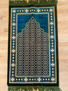 Prayer Rug For Adults-Home Decor-Crescent Moon Books Toys and More-Adult-Teal & Hunter Green-Crescent Moon Store